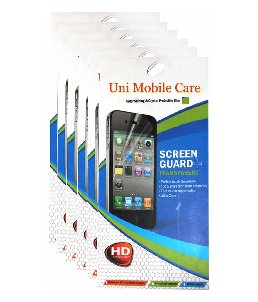 Uni Mobile Care Samsung Galaxy S3 i9300 Clear Screen Guard /Protector (combo pack of 6 pcs)
