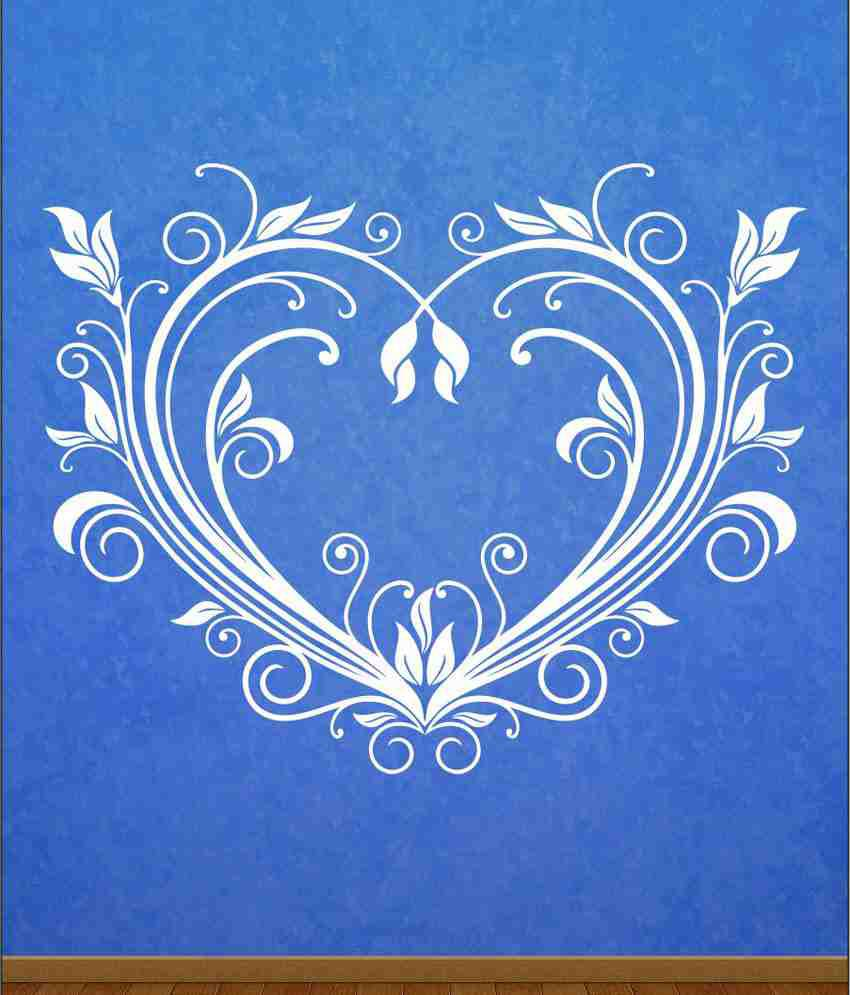 wall1ders flourisihe heart white stickers mega buy