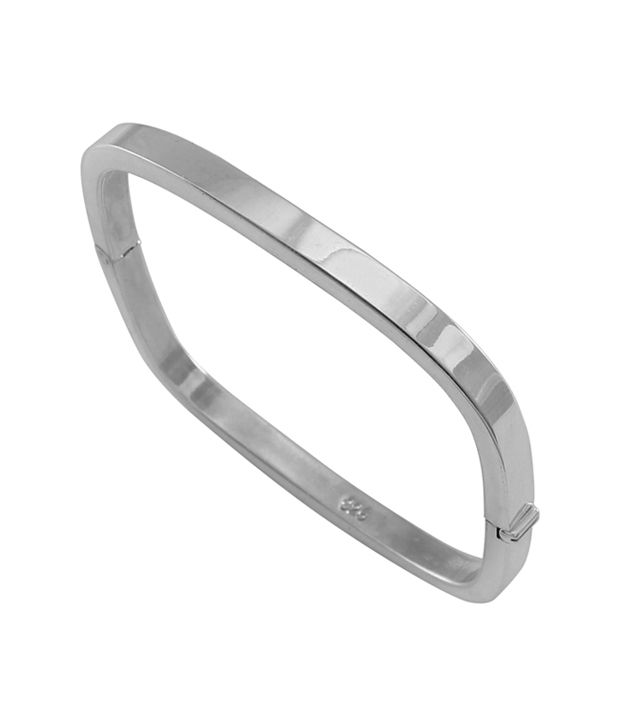 925 Silver Round Edge Square Designer Sterling Bangle Kada Buy Online In India On