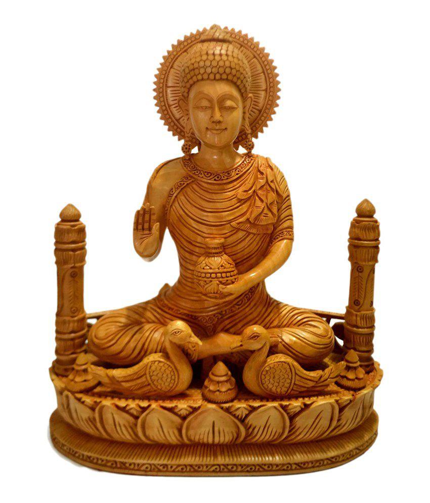 Collectible India Wood Buddha Idol