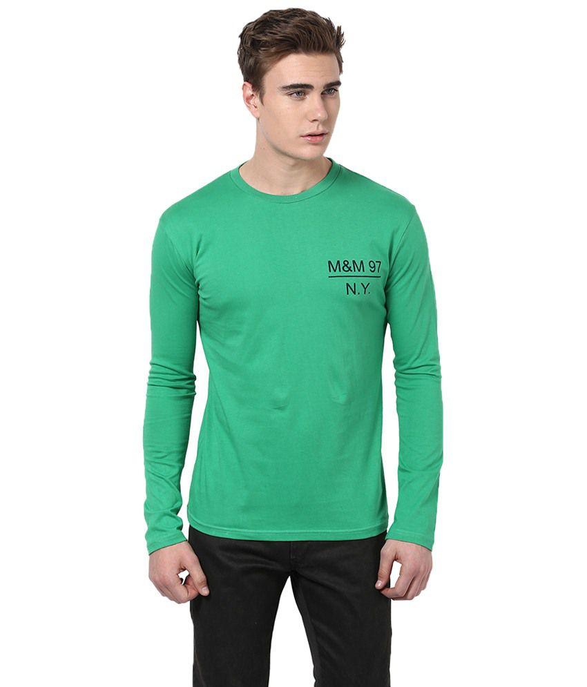 Monteil & Munero Green Basic Full Sleeves T Shirt