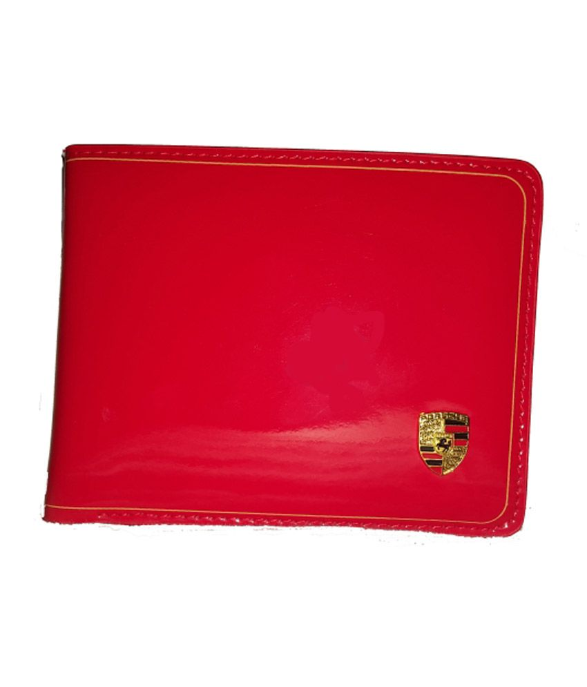 Porsche Red Leather Wallet Buy Online At Low Price In