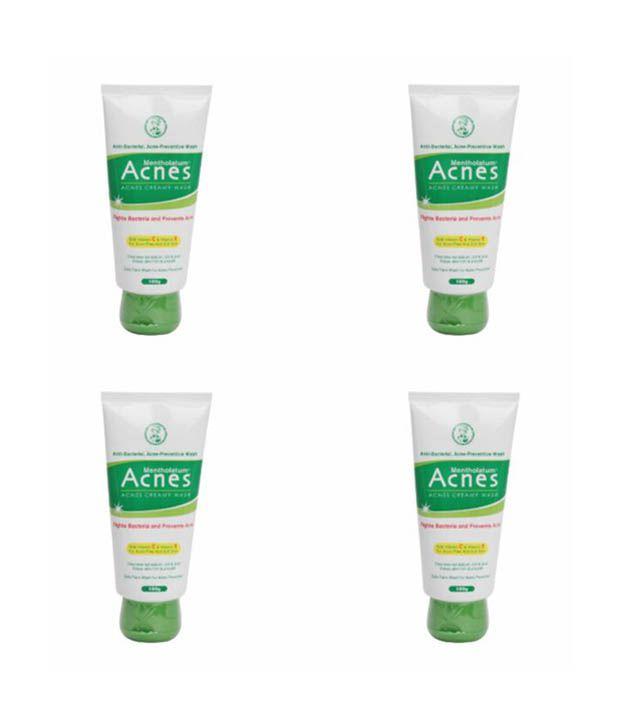 Rohto Mentholatum Acnes Creamy Wash of 100g - pack of 4