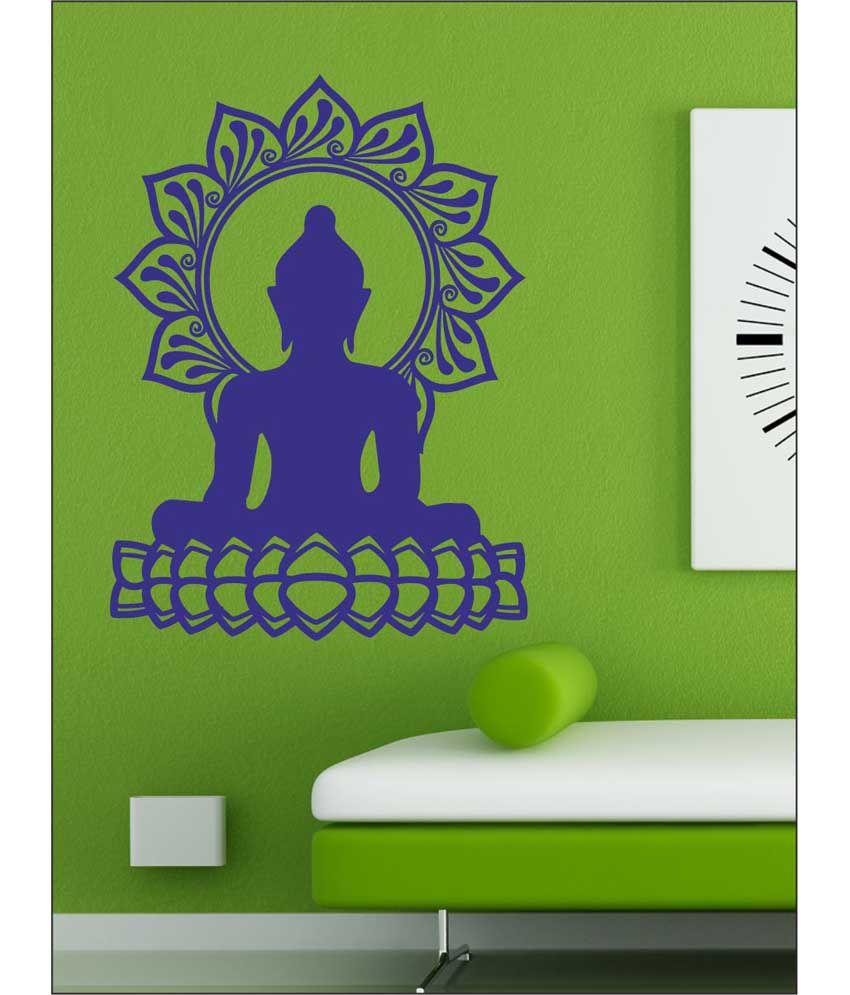 wall1ders lotus buddha blue stickers giant buy
