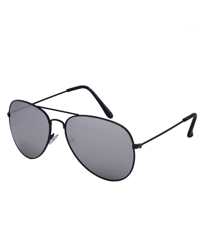 Enetram Black Metal Aviator Sunglasses for Men