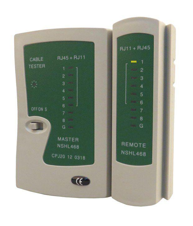 Dhandistributor dd7012 White Virgin Plastic RJ45 RJ11 Network Lan Cat5e Cable Tester