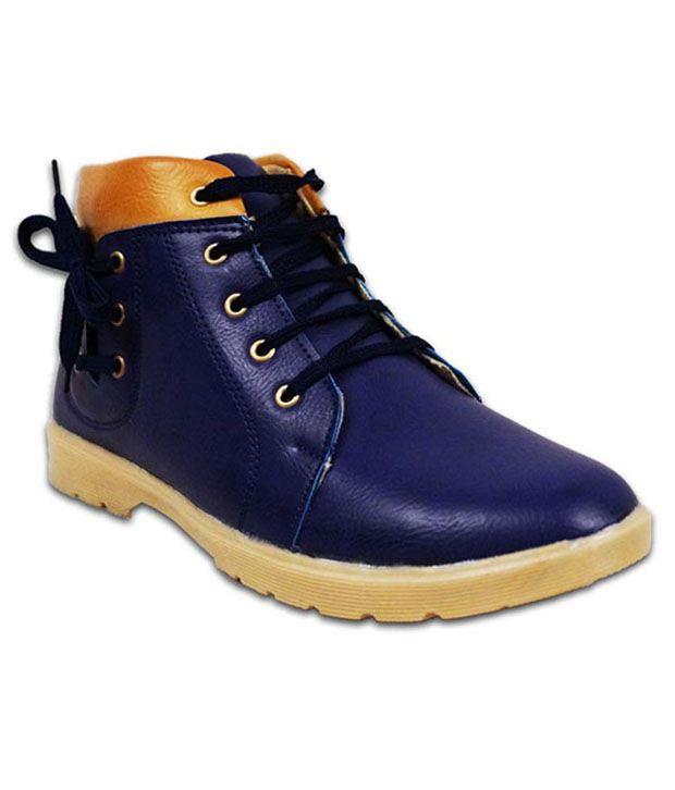 Austrich Blue Ankle Length Boot