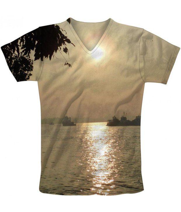 Freecultur Express Beige Cotton Blend T-shirt