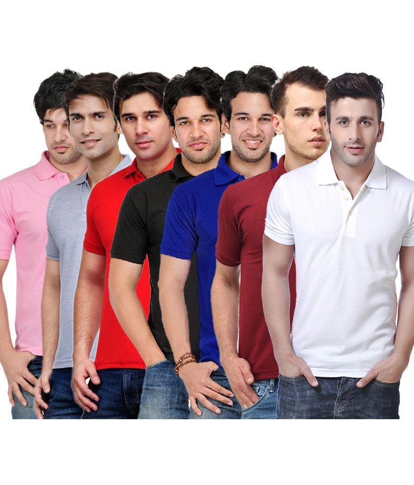 Rakshita's Collection Cotton T- Shirt (SET OF 7)