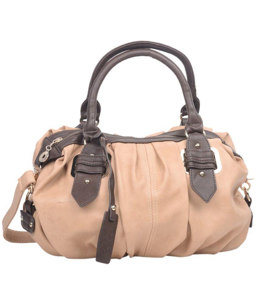 ADISA Beige Shoulder Bags For Women