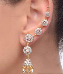 Jewels Galaxy Imperial Circular Jhumka Earcuff (2 Piece)