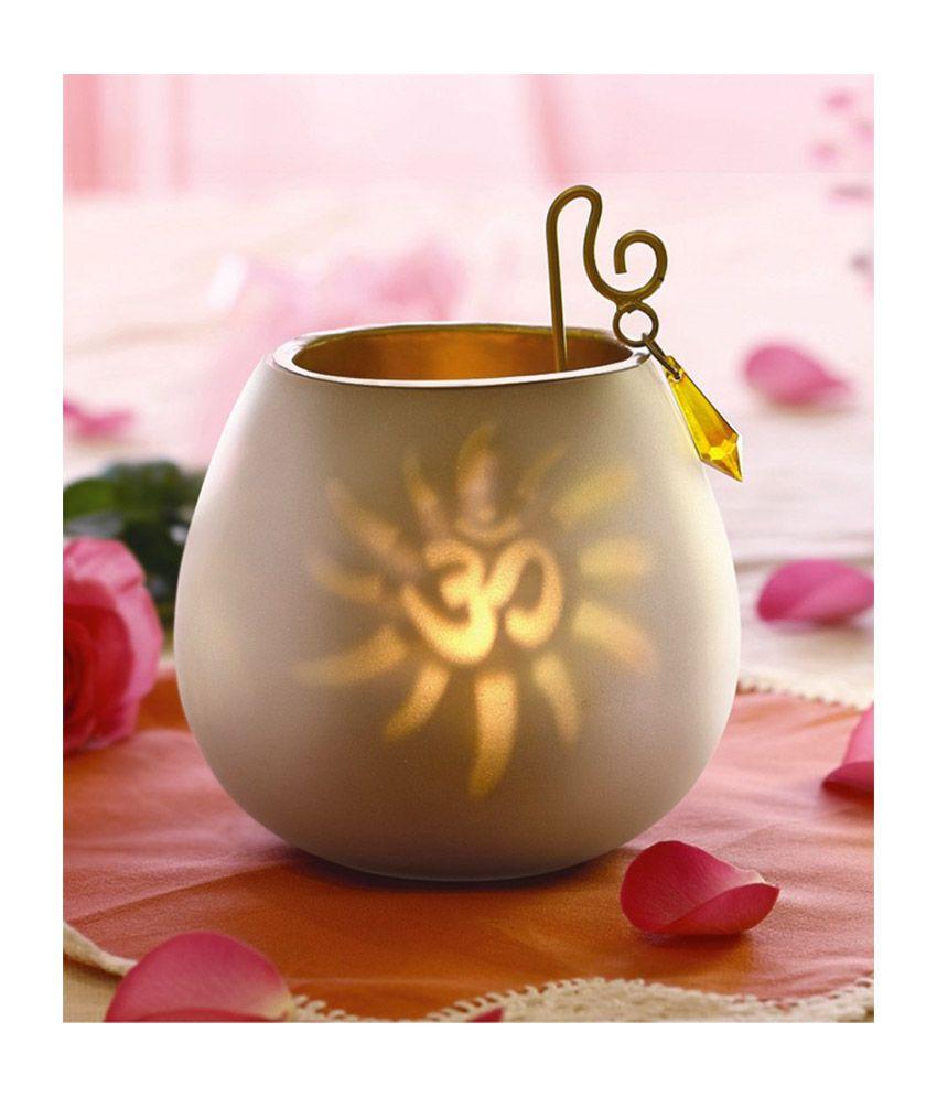Borosil Wax Tea Light Gold Single