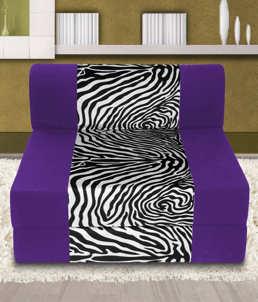 Dolphin zeal 1 seater sofa bed purple zebra x 6ft for Sofa bed 5ft