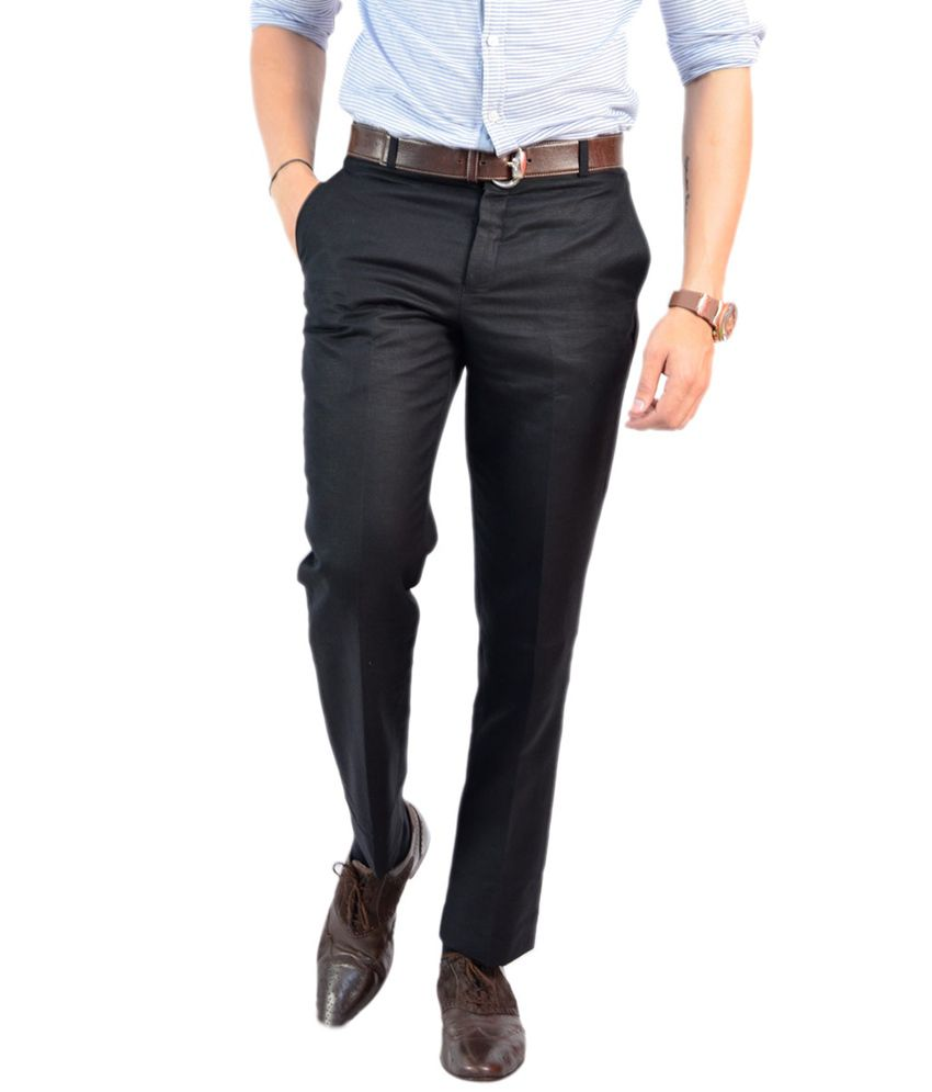 Granite Slim Fit Black Men's Trouser