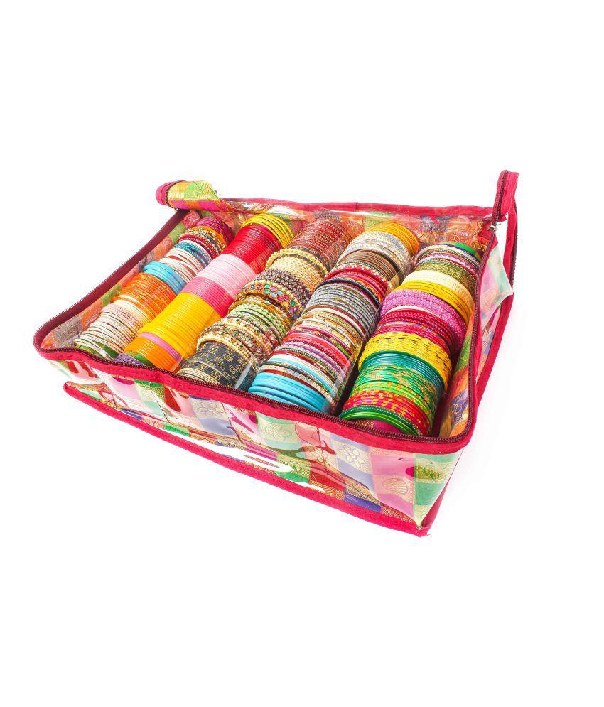Speak Homes Large Beautiful Jamavar Bangle Jewellery Bag