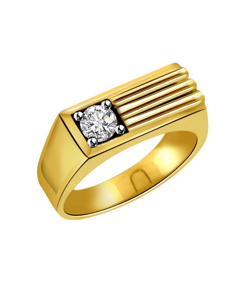 Surat Diamond Mens Diamond & Gold Ring: Buy Surat Diamond Mens ...