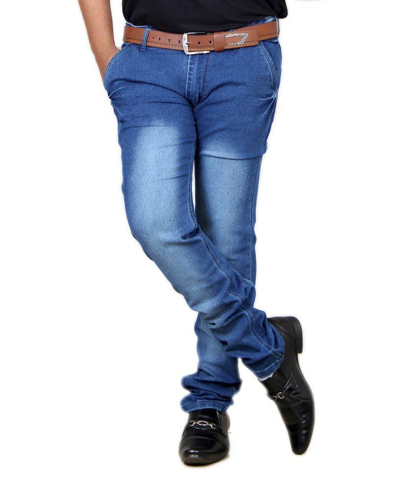 Acro Blue Cotton Trendy Stretch Men's Denim Jeans