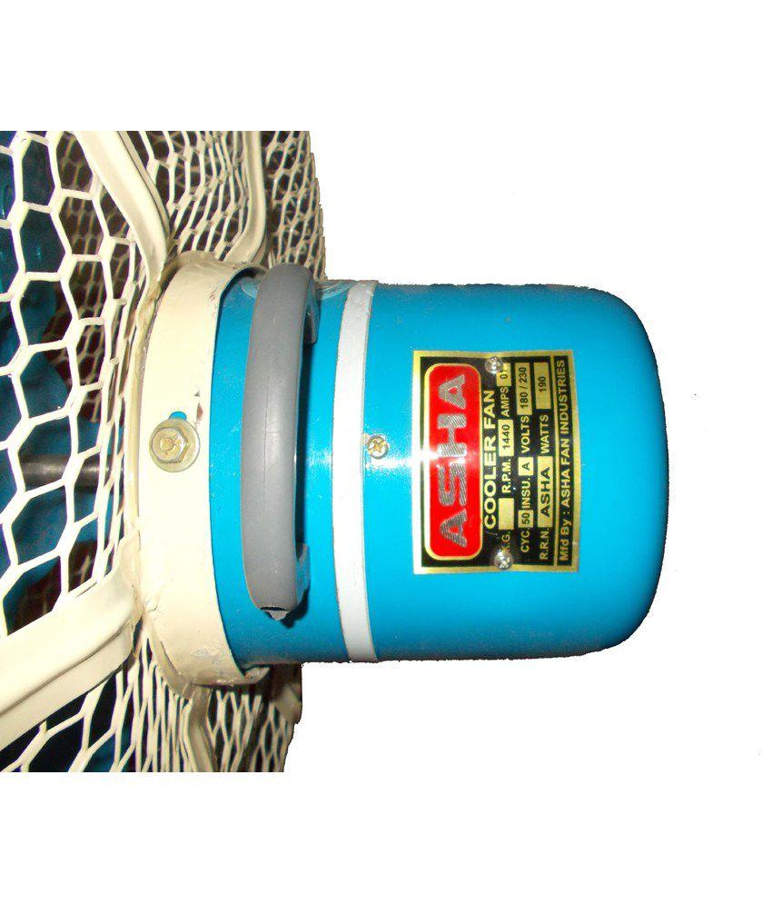 Asha 26 Pluto Pedestal Fan Blue/White