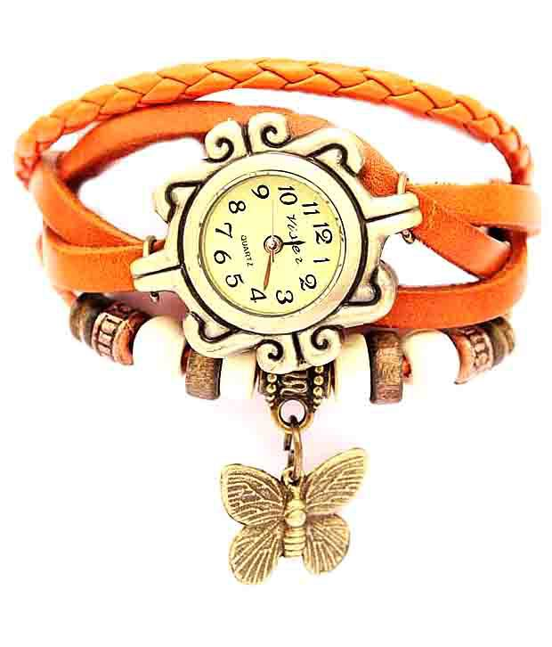 Frozen Apple Frozen Apple Orange Round Bracelet Mechanical Designer For Women
