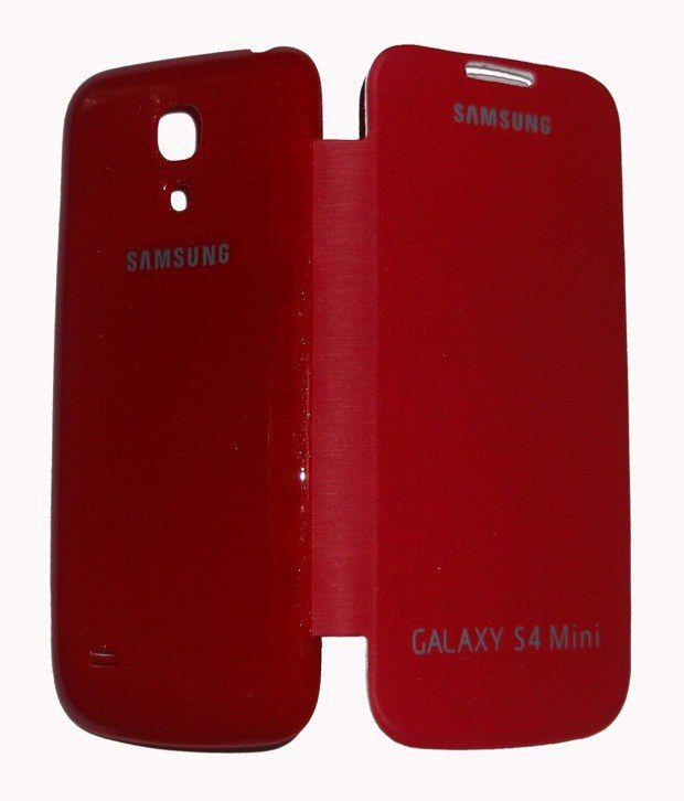 new arrivals 1c28c fc018 Jma Red Flip Cover Case For Samsung Galaxy S4 Mini I9190 I9192 ...