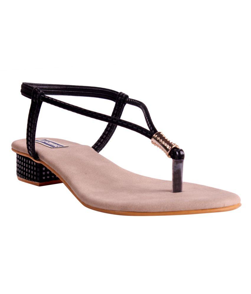 Lee Chung Black Women Flat Sandals