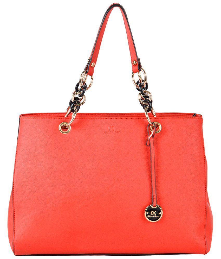 Diana Korr Red P.U. Shoulder Bag