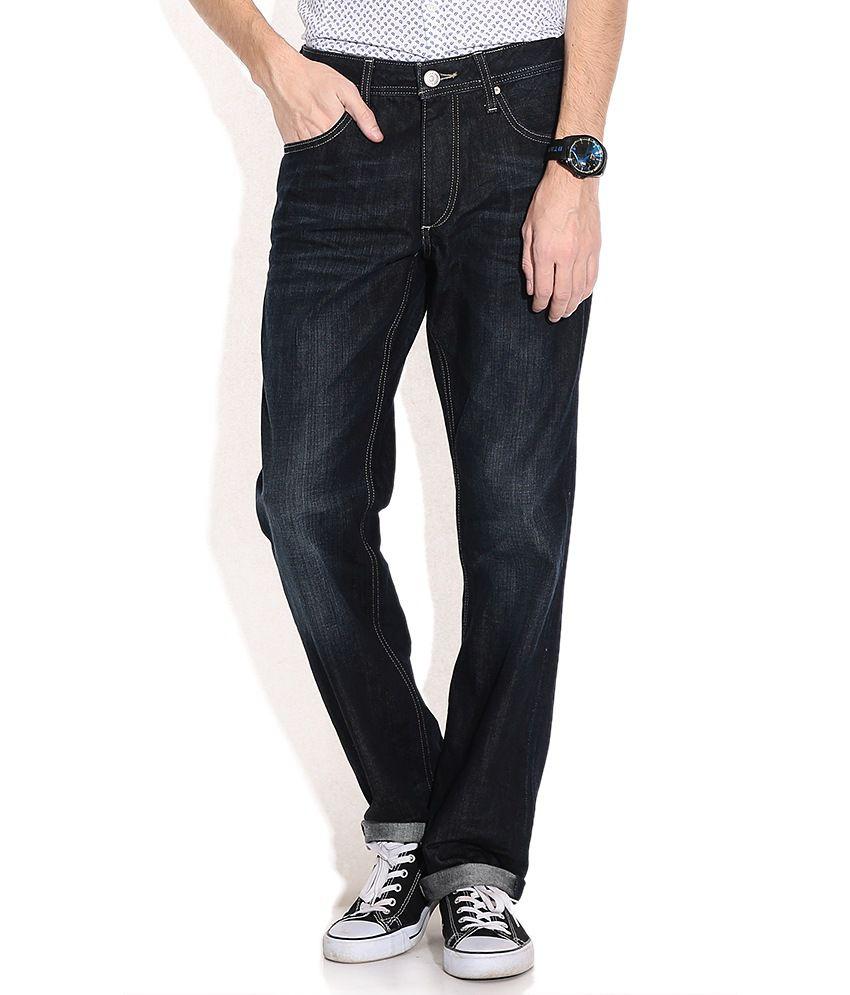 Jack & Jones Blue Cotton Slim Faded Jeans