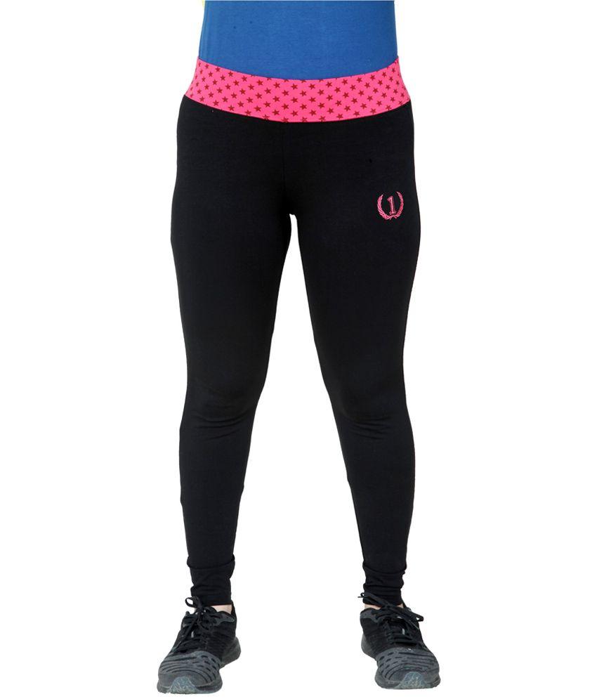 Onesport cotton spandex sports legging with printed belt