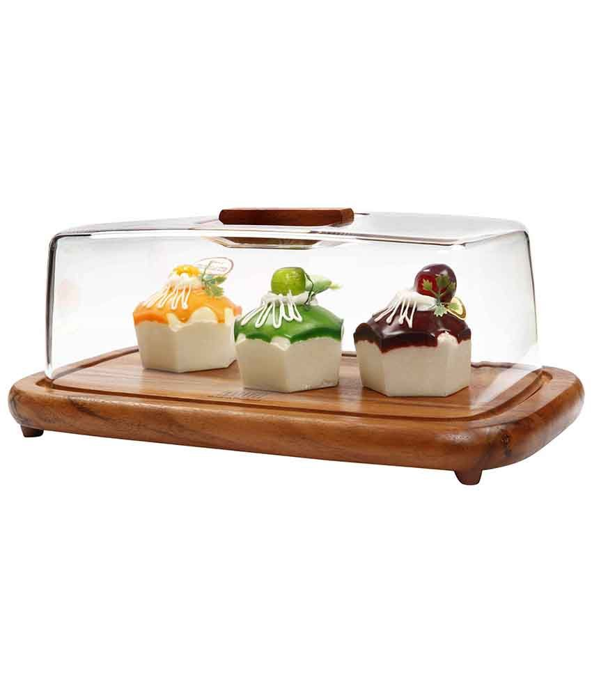 Glass Rectangular Cake Dome