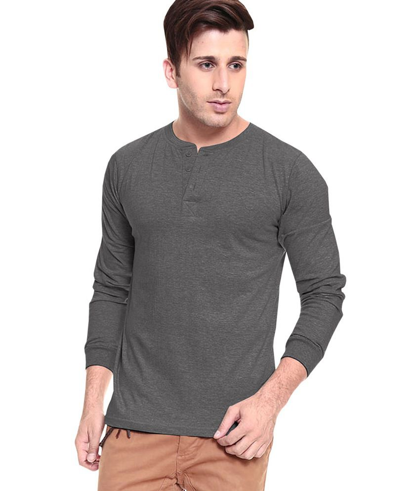 9470aab3b27 Softwear Grey Cotton Henley Full Sleeves T-Shirt - Buy Softwear Grey Cotton Henley  Full Sleeves T-Shirt Online at Low Price - Snapdeal.com