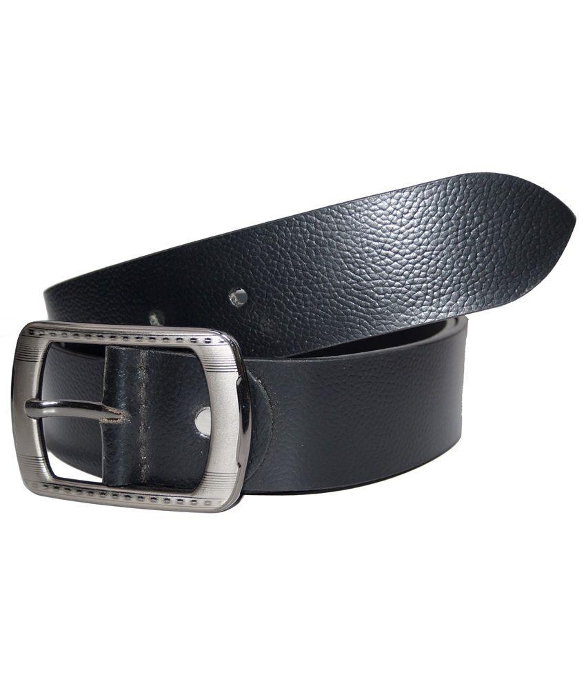 Crabrocks Brown Leather Casual Belt for Men
