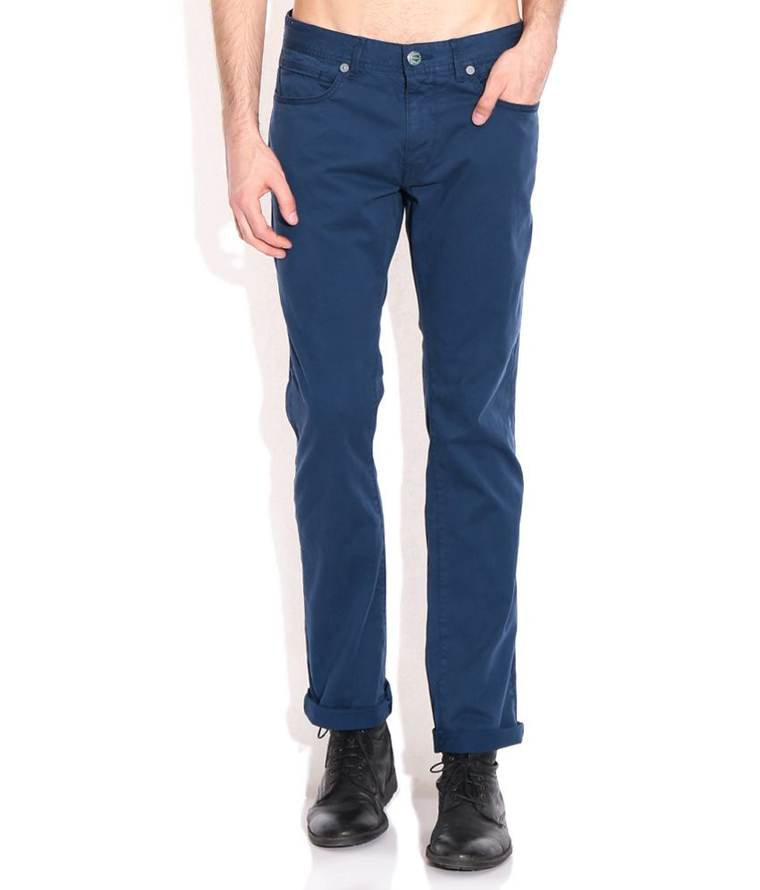 Breakbounce Blue Comfort Fit Chino Trousers