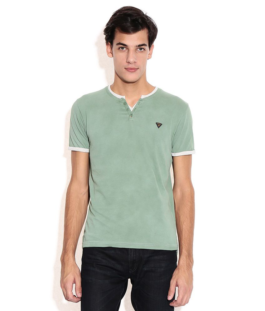 Breakbounce Green Henley T-shirt