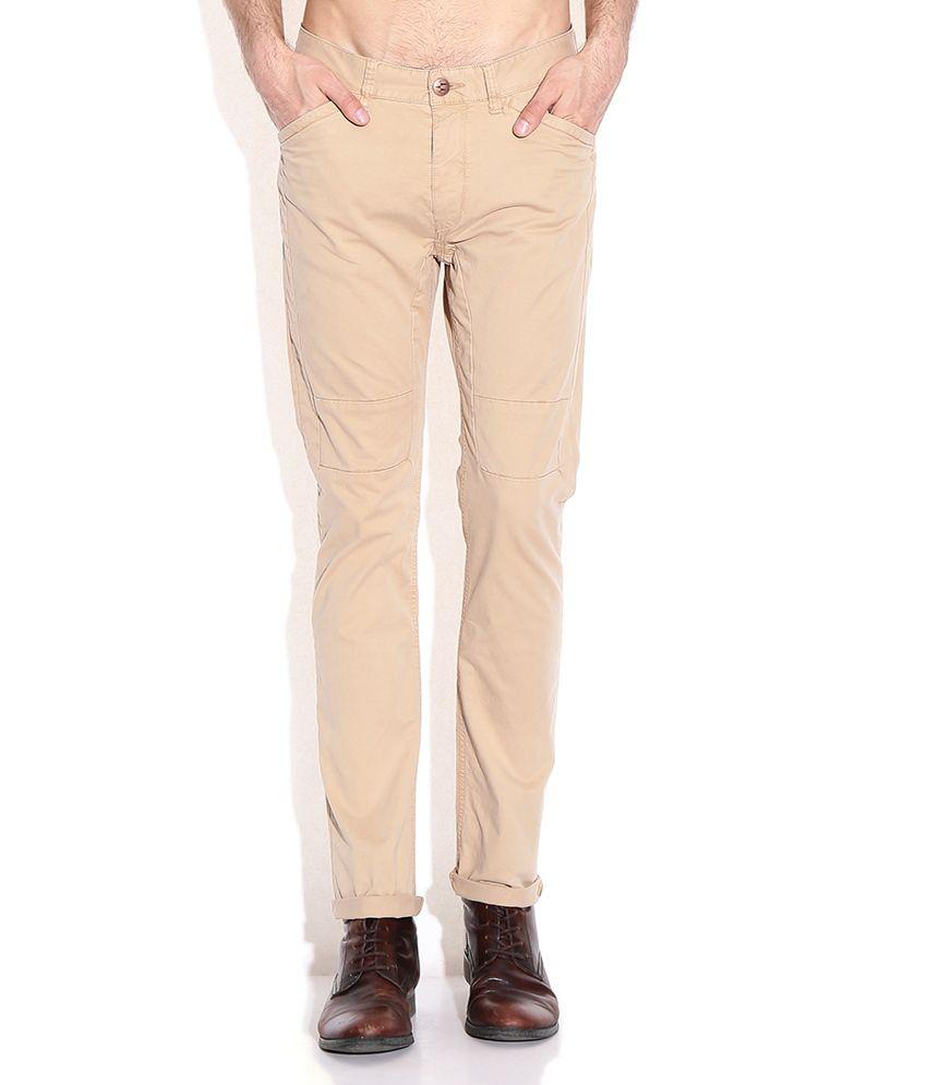 Breakbounce Khaki Slim Fit Chino Trousers