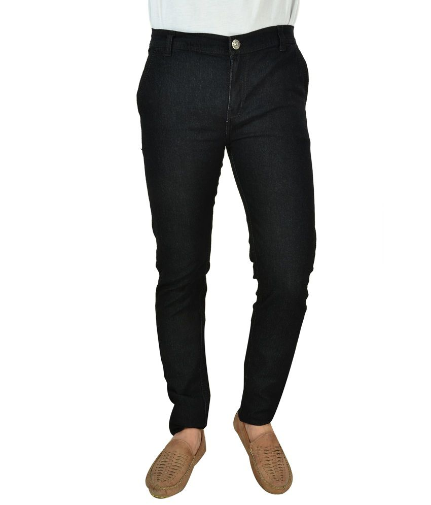 Fashion Narrow Fit Black Jeans