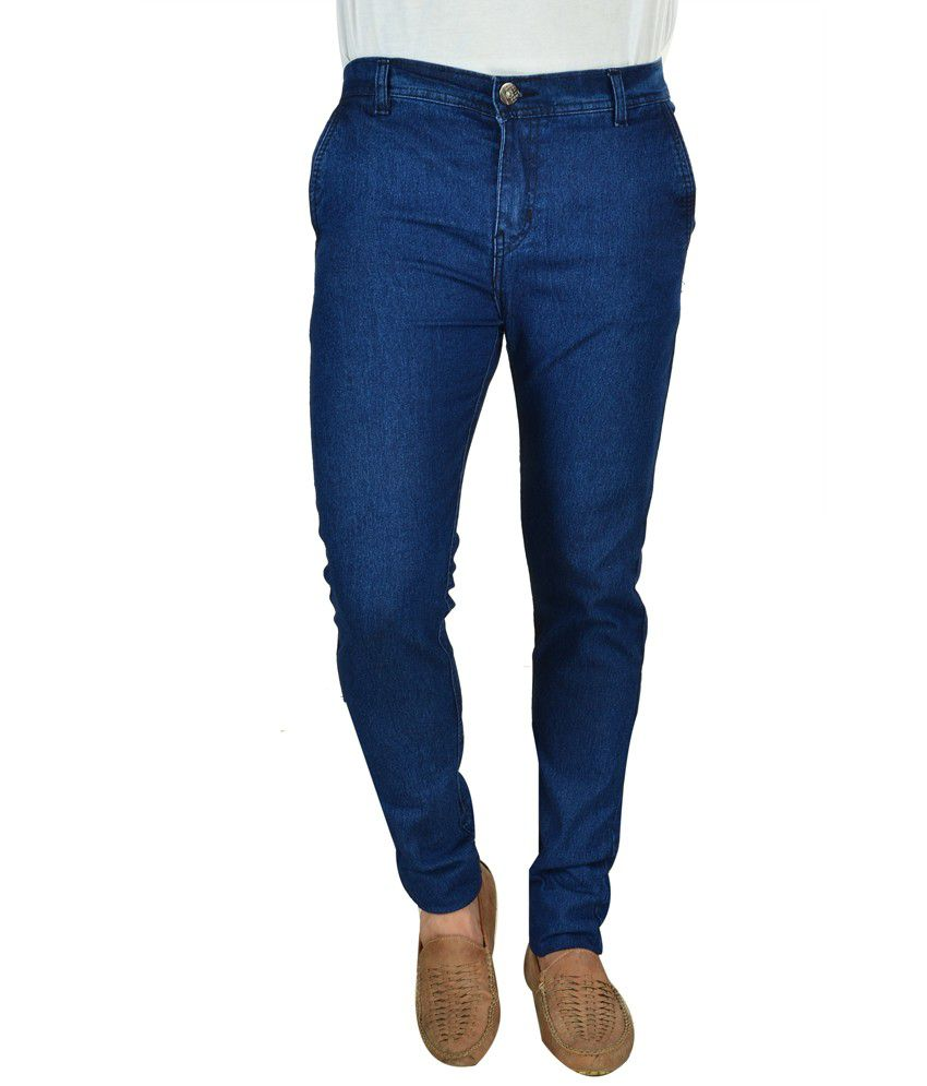 Fashion Narrow Fit Blue Jeans