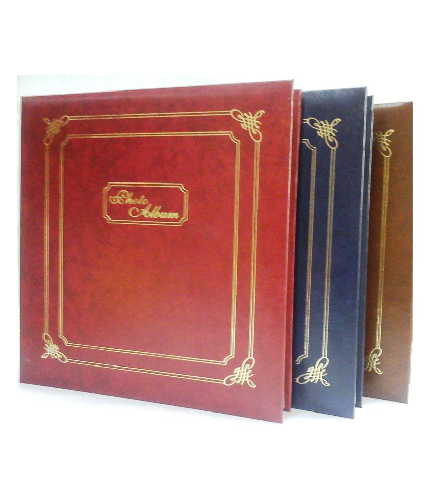 Natraj Vinyl Leather Cover Photo Album - 200 Pocket - 5 x 7 Inch