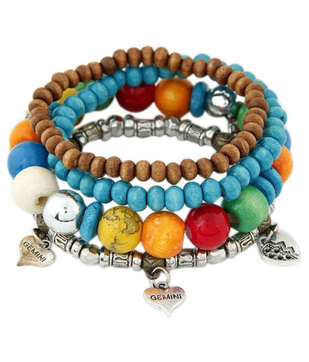 Young & Forever Multicolour Charm Bracelet For Women