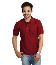 Weardo Maroon Half Sleeve T-Shirts for Boys