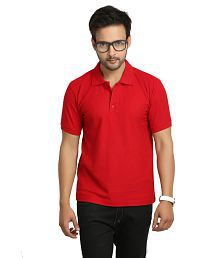 Weardo Red Half Sleeve T-Shirts for Boys