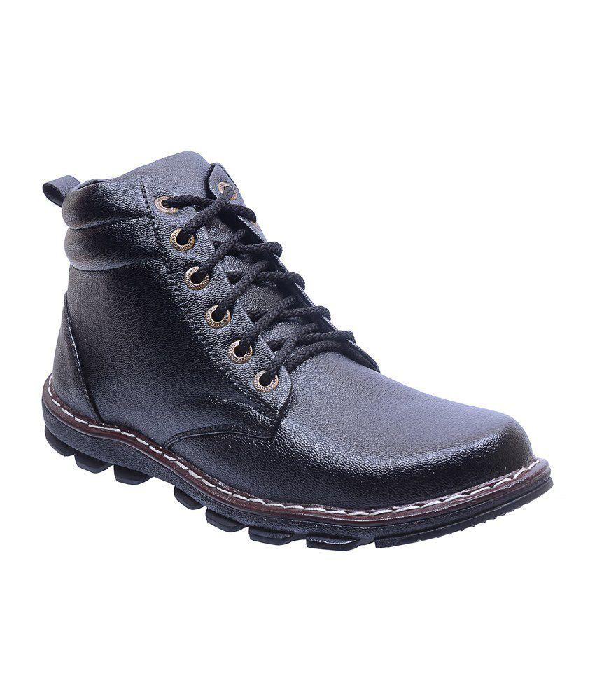 Twyst Black Leather Cowboy Boots