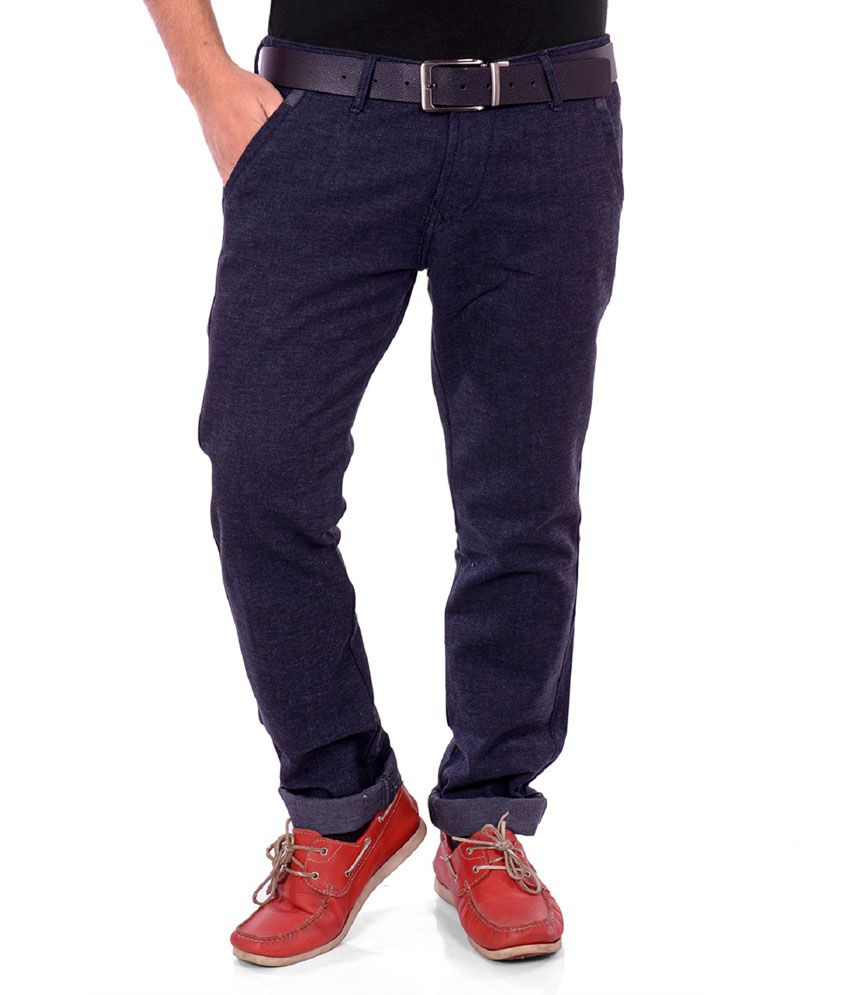 Unison Black Slim Fit Men's Casual Cordrouy Trouser for Men