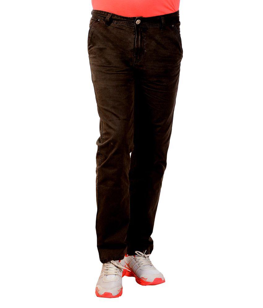 Vinci Brown Regular Fit Men's Jeans