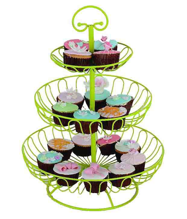 how to stack a 3 tier fruit wedding cake 3 tier layer wire kitchen metal green stacking stackers 16146