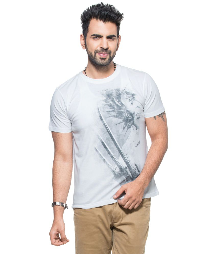 Zovi Casual White T Shirt