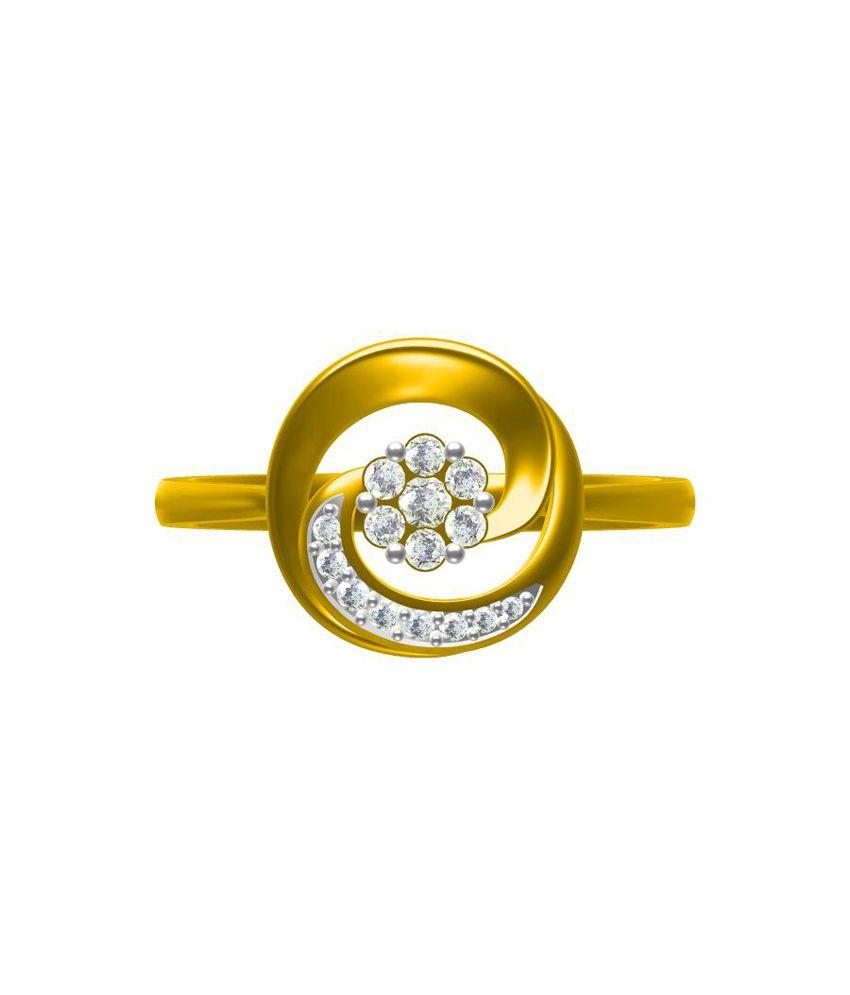 Sakshi jewels 18kt Gold Diamond Ring