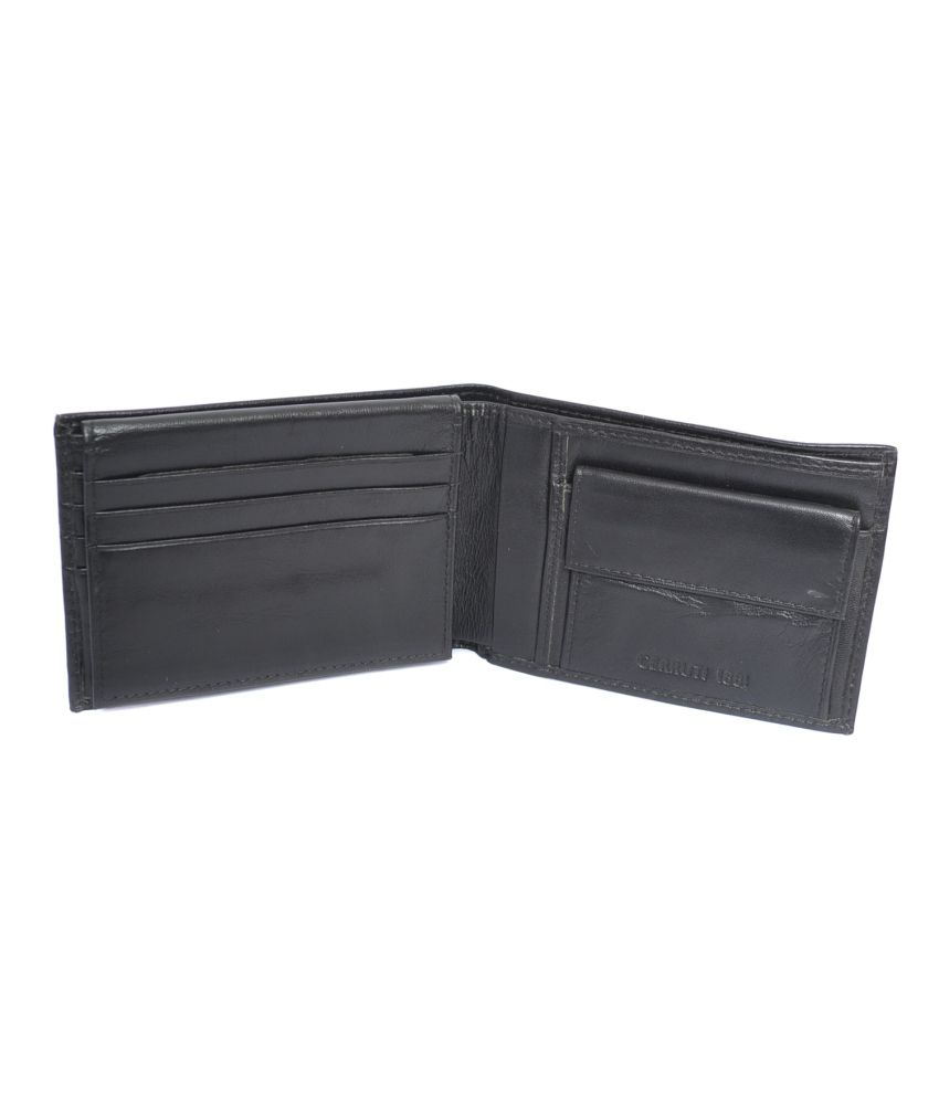 a5a2a639b77 Cerruti 1881 Black Leather Formal Wallet For Men: Buy Online at Low ...