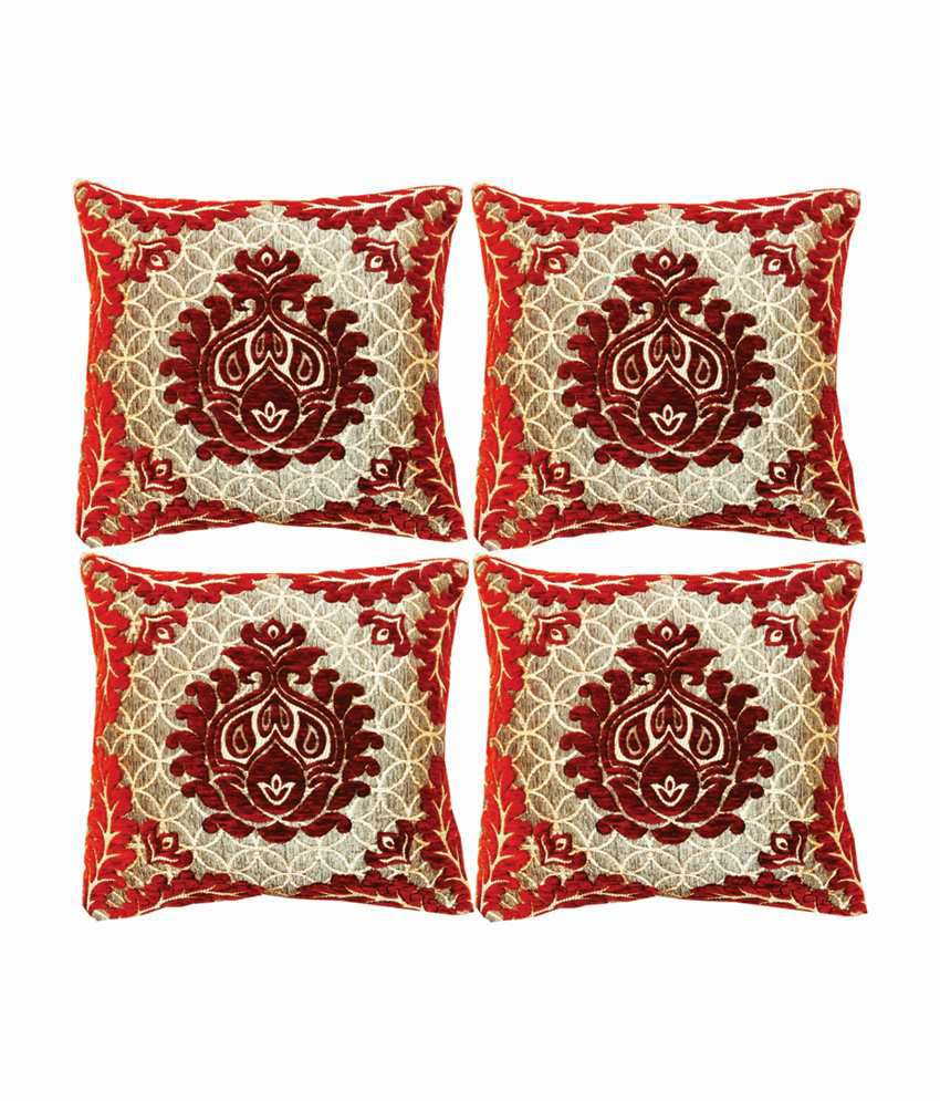 Dream Care Set of 4 Silk Cushion Covers 40X40 cm (16X16)