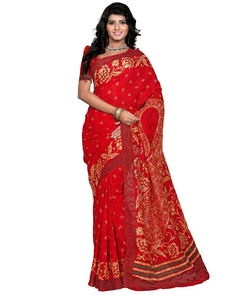 Morli Red Silk Saree