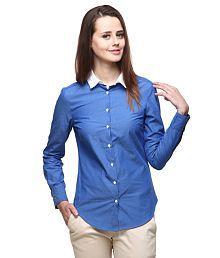 Yepme Blue Cotton Shirts